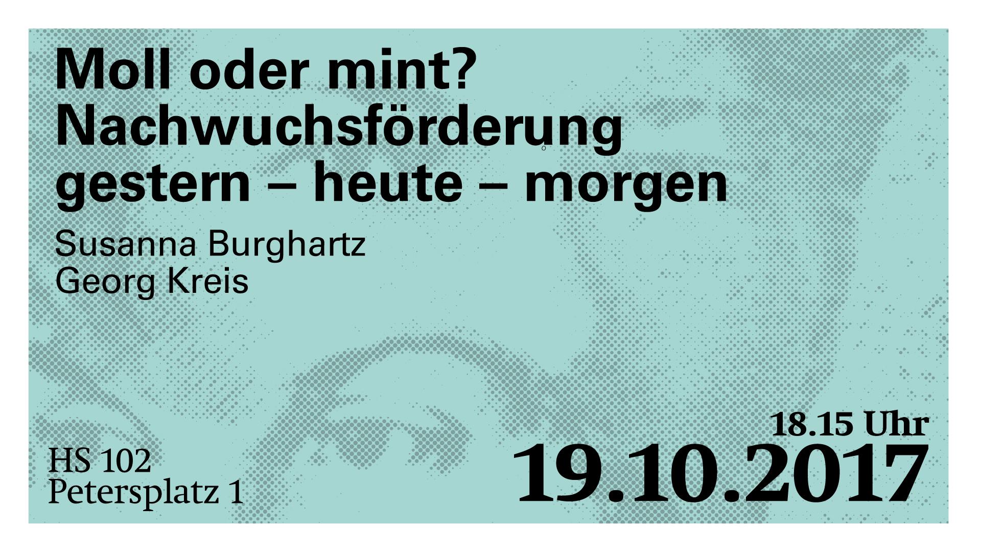Susanna Burghartz, Georg Kreis: Moll oder mint? Nachwuchsförderung gestern – heute – morgen