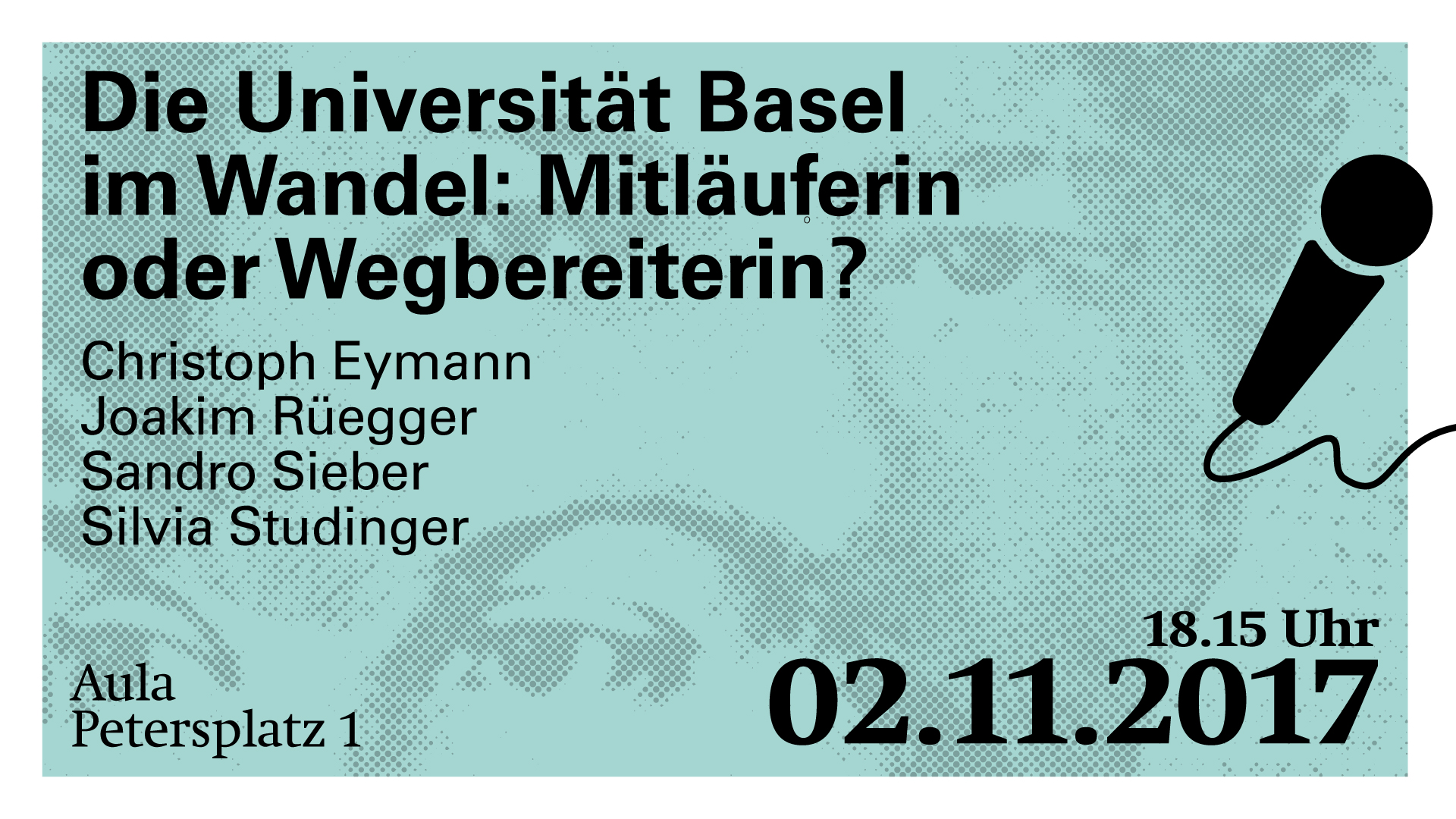 Podiumsdiskussion: Die Universität Basel im Wandel: Mitläuferin oder Wegbereiterin?